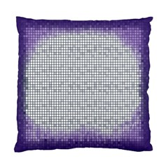 Purple Square Frame With Mosaic Pattern Standard Cushion Case (one Side) by Nexatart
