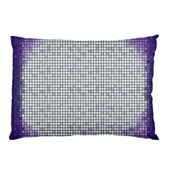 Purple Square Frame With Mosaic Pattern Pillow Case