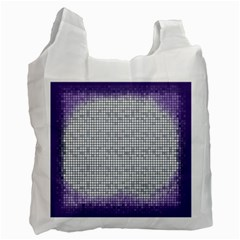 Purple Square Frame With Mosaic Pattern Recycle Bag (one Side) by Nexatart
