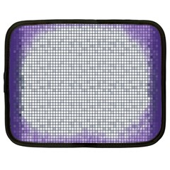 Purple Square Frame With Mosaic Pattern Netbook Case (xxl)  by Nexatart