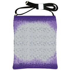 Purple Square Frame With Mosaic Pattern Shoulder Sling Bags by Nexatart