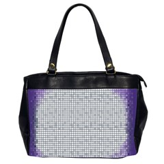 Purple Square Frame With Mosaic Pattern Office Handbags (2 Sides)  by Nexatart