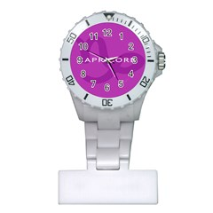 Zodiac Capricorn Purple Plastic Nurses Watch by Mariart