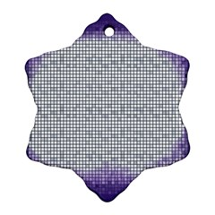 Purple Square Frame With Mosaic Pattern Ornament (snowflake) by Nexatart