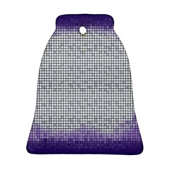 Purple Square Frame With Mosaic Pattern Bell Ornament (two Sides) by Nexatart