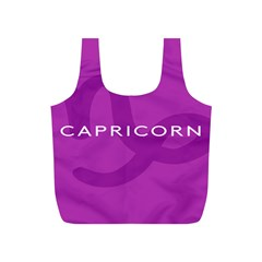 Zodiac Capricorn Purple Full Print Recycle Bags (s)  by Mariart