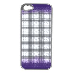 Purple Square Frame With Mosaic Pattern Apple Iphone 5 Case (silver) by Nexatart