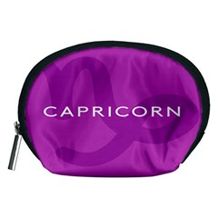 Zodiac Capricorn Purple Accessory Pouches (medium)  by Mariart
