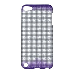 Purple Square Frame With Mosaic Pattern Apple Ipod Touch 5 Hardshell Case by Nexatart