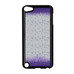 Purple Square Frame With Mosaic Pattern Apple Ipod Touch 5 Case (black) by Nexatart