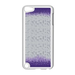 Purple Square Frame With Mosaic Pattern Apple Ipod Touch 5 Case (white)