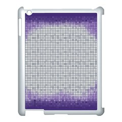 Purple Square Frame With Mosaic Pattern Apple Ipad 3/4 Case (white) by Nexatart
