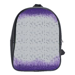 Purple Square Frame With Mosaic Pattern School Bags (xl)  by Nexatart