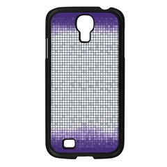 Purple Square Frame With Mosaic Pattern Samsung Galaxy S4 I9500/ I9505 Case (black) by Nexatart