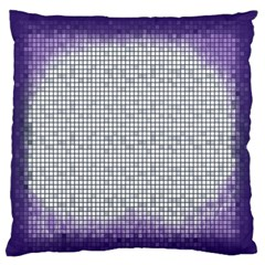 Purple Square Frame With Mosaic Pattern Standard Flano Cushion Case (one Side) by Nexatart