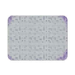 Purple Square Frame With Mosaic Pattern Double Sided Flano Blanket (mini)
