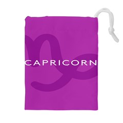 Zodiac Capricorn Purple Drawstring Pouches (extra Large) by Mariart