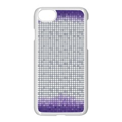 Purple Square Frame With Mosaic Pattern Apple Iphone 7 Seamless Case (white) by Nexatart