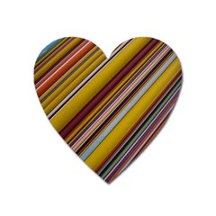 Colourful Lines Heart Magnet by Nexatart