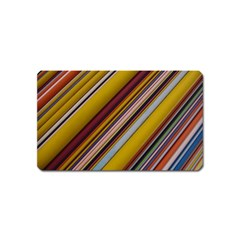 Colourful Lines Magnet (name Card) by Nexatart