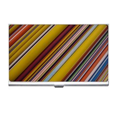 Colourful Lines Business Card Holders by Nexatart