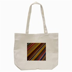 Colourful Lines Tote Bag (cream) by Nexatart