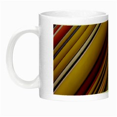 Colourful Lines Night Luminous Mugs by Nexatart