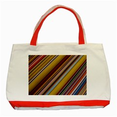 Colourful Lines Classic Tote Bag (red)