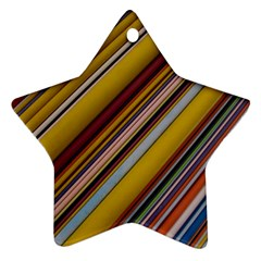 Colourful Lines Star Ornament (two Sides)