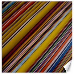 Colourful Lines Canvas 12  X 12
