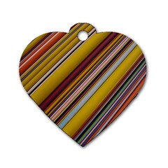 Colourful Lines Dog Tag Heart (one Side) by Nexatart