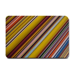 Colourful Lines Small Doormat  by Nexatart