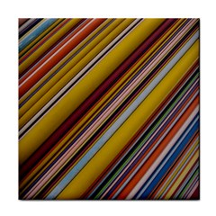 Colourful Lines Face Towel by Nexatart