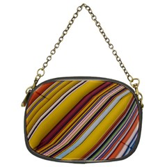 Colourful Lines Chain Purses (two Sides)