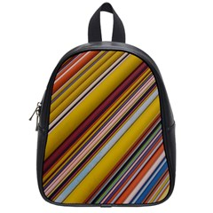 Colourful Lines School Bags (small)  by Nexatart