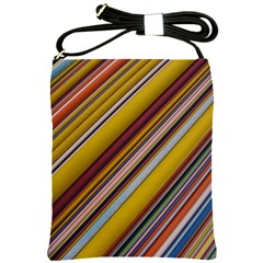Colourful Lines Shoulder Sling Bags by Nexatart