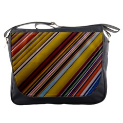 Colourful Lines Messenger Bags by Nexatart