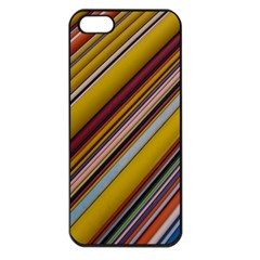 Colourful Lines Apple Iphone 5 Seamless Case (black)