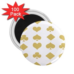Card Symbols 2 25  Magnets (100 Pack)  by Mariart