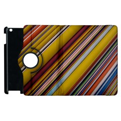 Colourful Lines Apple Ipad 3/4 Flip 360 Case by Nexatart