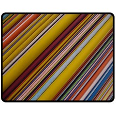 Colourful Lines Double Sided Fleece Blanket (medium)  by Nexatart