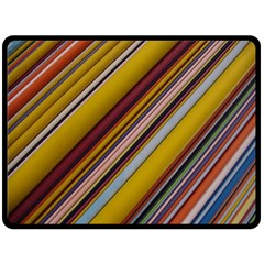 Colourful Lines Double Sided Fleece Blanket (large)  by Nexatart