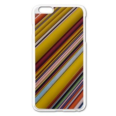 Colourful Lines Apple Iphone 6 Plus/6s Plus Enamel White Case by Nexatart