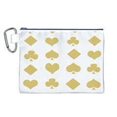 Card Symbols Canvas Cosmetic Bag (l) by Mariart