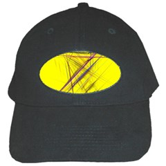 Fractal Color Parallel Lines On Gold Background Black Cap by Nexatart