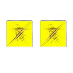 Fractal Color Parallel Lines On Gold Background Cufflinks (square) by Nexatart