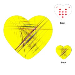Fractal Color Parallel Lines On Gold Background Playing Cards (heart)  by Nexatart