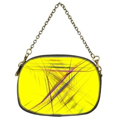 Fractal Color Parallel Lines On Gold Background Chain Purses (two Sides)  by Nexatart