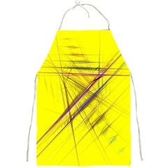 Fractal Color Parallel Lines On Gold Background Full Print Aprons by Nexatart