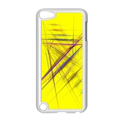 Fractal Color Parallel Lines On Gold Background Apple Ipod Touch 5 Case (white)